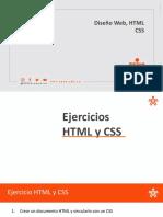 Ejercicios HTML y CSS