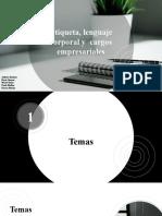 Presentación plan de capacitación lenguaje corporal y comunicacion