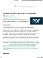 Definition and classification of the cardiomyopathies - UpToDate
