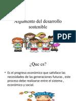 Argumento del desarrollo sostenible