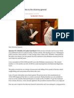 Kaduwela Mallika Writes to the Attorney Genera1