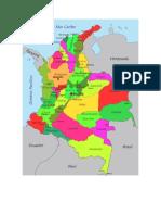 Coordenadas geográficas de Colombia en grados decimales