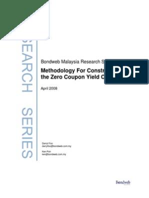 zero coupon methodology