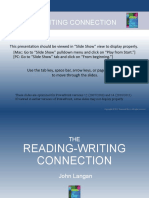 Reading writing connection ch1 ppt