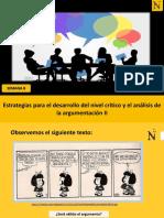 S8-Estrategias para el desarrollo del nivel crítico y el análisis de la argumentación II