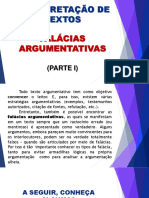 INTERPRETAÇÃO DE TEXTOS FALÁCIAS ARGUMENTATIVAS (PARTE I)