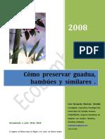 Cómo  preservar  guadua y  bambues