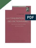 La conjuration des dictionnaires