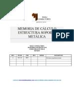 MEMORIA DE CALCULO _ESTRUCTURA METALICA_MESA METALICA