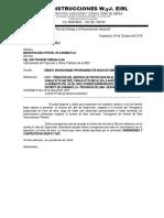CARTA INFORME DE CRONOGRAMA BOMBOYA