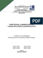 Narrative Report template_food fest