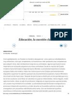 Educación, la cuestión clave _ Opinión _ EL PAÍS