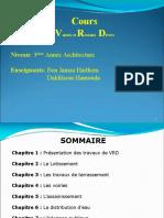 Chapitre I  VRD - Introduction aux Trvx de VRD 2017-2018