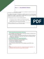 Chapitre VII VRD 2017-2018 - ECLAIRAGE PUBLIC