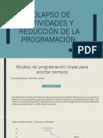 Colapso de Actividades y Reducción de La Programación