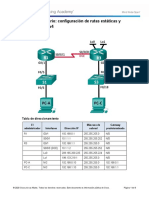 ACTIVIDAD 1 - Configuring IPv4 Static and Default Routes