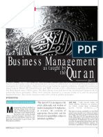 CRITIC Business Management in Quran