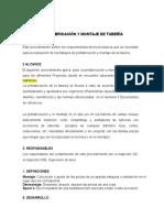 PROCEDIMEINTO PREFABRICACIÓN Y MONTAJE DE TUBERÍA