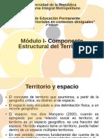Modulo 1 Componente estructural del territorio - Curso Abordajes Territoriales - Educ Permanente PIM 2018