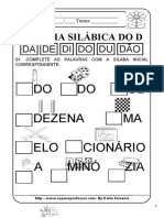 SILABA INICIAL D