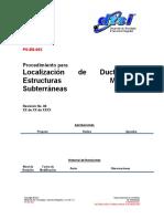 PO-ES-00X Localizacion de Ductos y Estructuras Metalicas Subterraneas