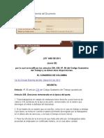 Ley 1468 de 2011