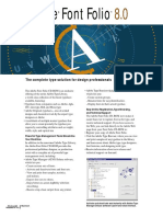 Adobe Fontfolio 8