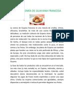 GASTRONOMÍA DE GUAYANA FRANCESA
