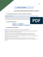 Syllabus Curriculum para la Educación Parvularia y Básica