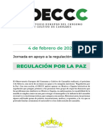 Regulacion del cannabis por la paz