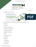 MCQ in Thermodynamics Part 1