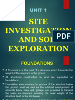 site exploration