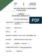 GUIA DEL APRENDIZAJE ALGEBRA LINEAL Y GEOMETRIA ANALITICA..