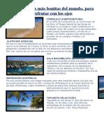 Las 10 playas más bonitas del mundo