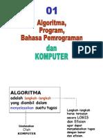Pengenalan Komputer, Algoritma dan Program