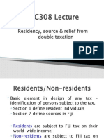 Lecture 3 Residency Source Relief from Double Tax Part 1