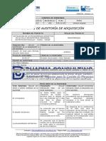 Informe de auditoria de adquisicion