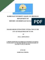 Bahir Dar University Graduate Program.ethnic Full Thesis Docx