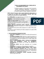 Instructivo de formato de COFASE