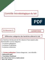 Altération Microbienne du Lait