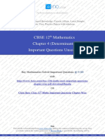 determinants important questions unsolved