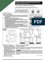 INSTRUCCIONES DE INSTALACIÓN DE COCINAS DE GAS DE 30