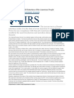 The IRS Extortion of the American People