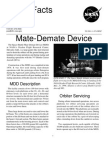 NASA Facts Mate-Demate Device 2001