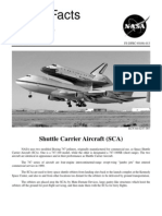 NASA Facts Shuttle Carrier Aircraft (SCA)