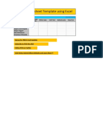 Resource and Timesheet Templates