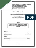 L'Exercice de La Mission d'Audit Fiscal Au Sein d'Une Entreprise