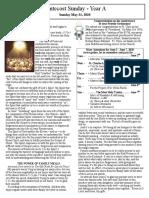 Bulletin - May 31, 2020