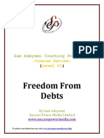 Sam Adeyemi - Freedom from debts