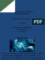 RELACIÓN ENTRE LA GENÉTICA Y EL COMPORTAMIENTO .pptx